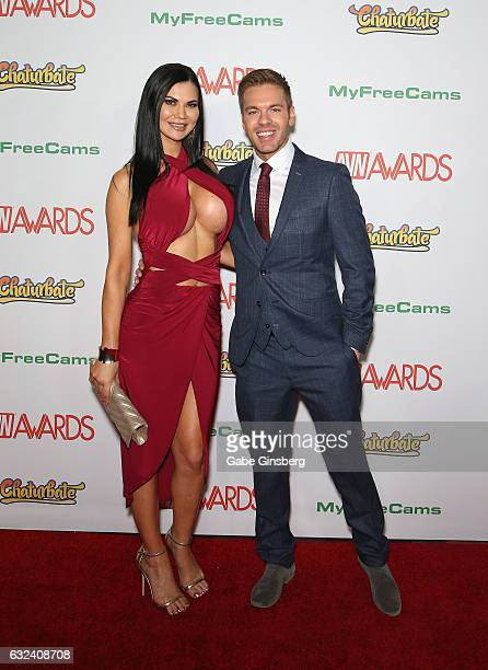 Adult film actress Jasmine Jae and adult film actor Ryan Ryder attend the 2017 Adult Video News Awards at the Hard Rock Hotel Casino on January 21...
