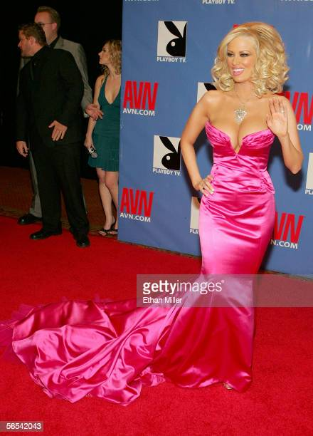 Adult film actress Jenna Jameson arrives at the Adult Video News Awards Show at the Venetian Resort Hotel and Casino January 7 2006 in Las Vegas...