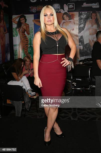 Adult film actress Jesse attends the 2015 AVN Adult Entertainment Expo at the Hard Rock Hotel Casino on January 22 2015 in Las Vegas Nevada
