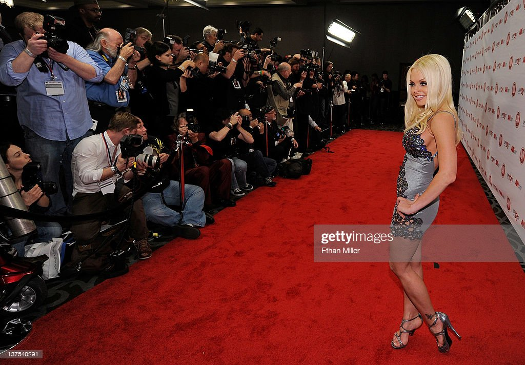 Adult film actress <a gi-track='captionPersonalityLinkClicked' href=/galleries/search?phrase=Jesse+Jane&family=editorial&specificpeople=2103220 ng-click='$event.stopPropagation()'>Jesse Jane</a> arrives at the 29th annual Adult Video News Awards Show at the Hard Rock Hotel & Casino January 21, 2012 in Las Vegas, Nevada.