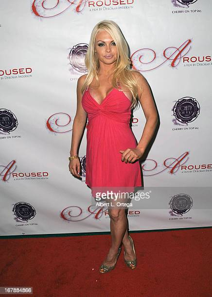 Adult film actress Jesse Jane arrives for the Premiere Of 'Aroused' held at Landmark Nuart Theatre on May 1 2013 in Los Angeles California