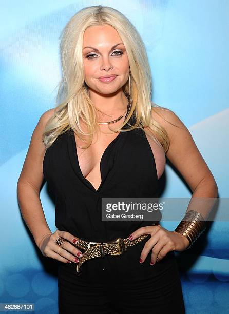 Adult film actress Jesse Jane attends the 2014 AVN Adult Entertainment Expo at the Hard Rock Hotel Casino on January 15 2014 in Las Vegas Nevada