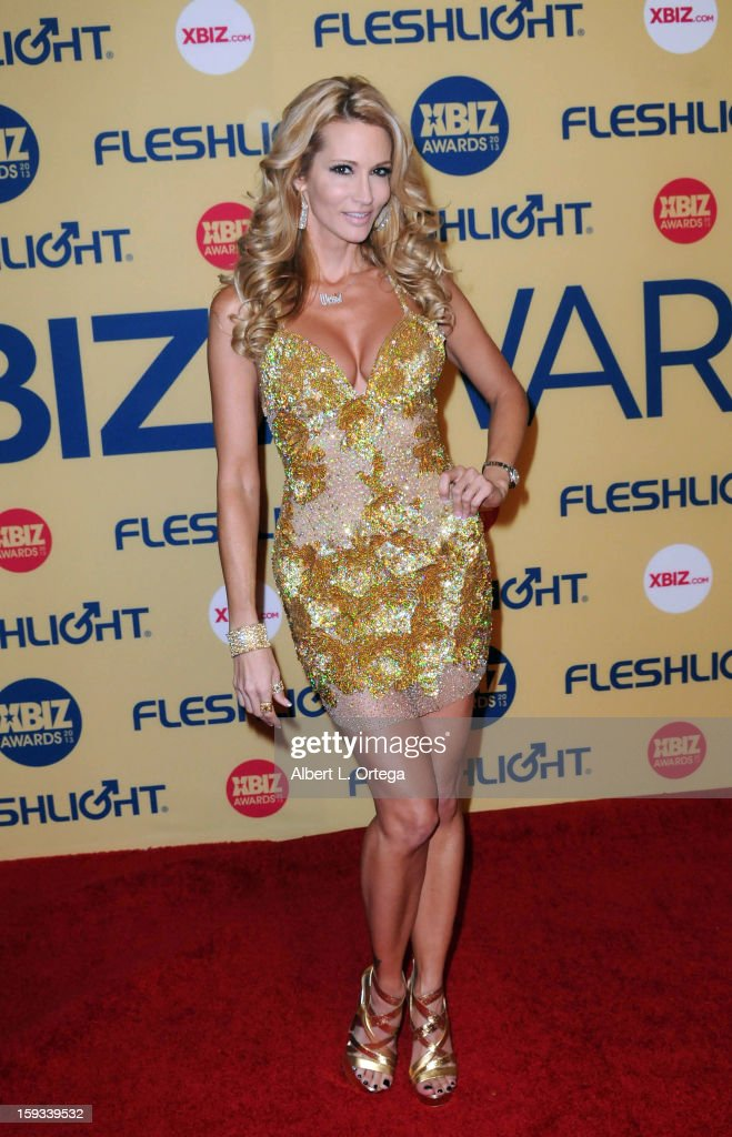 Adult film actress Jessica Drake arrives for the 2013 XBIZ Awards held at the Hyatt Regency Century Plaza on January 11, 2013 in Century City, California.