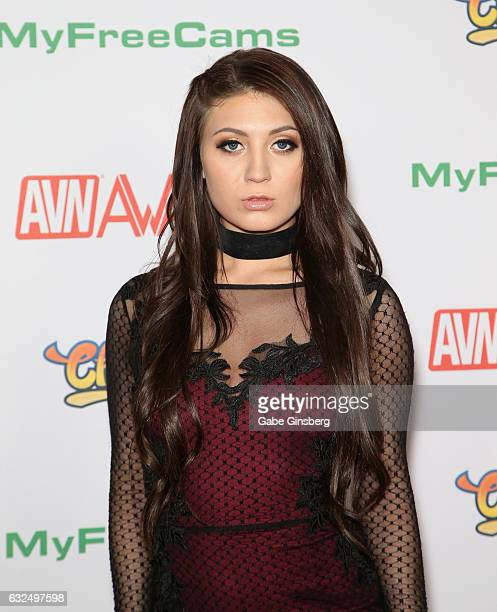 Adult film actress JoJo Kiss attends the 2017 Adult Video News Awards at the Hard Rock Hotel Casino on January 21 2017 in Las Vegas Nevada