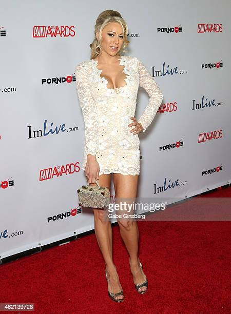 Adult film actress Katie Morgan arrives at the 2015 Adult Video News Awards at the Hard Rock Hotel Casino on January 24 2015 in Las Vegas Nevada