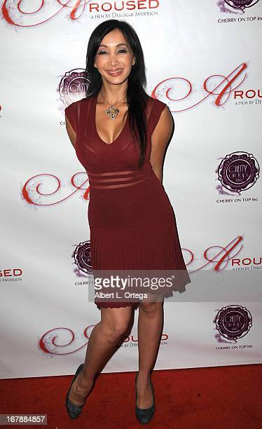 Adult film actress Katsuni arrives for the Premiere Of 'Aroused' held at Landmark Nuart Theatre on May 1 2013 in Los Angeles California