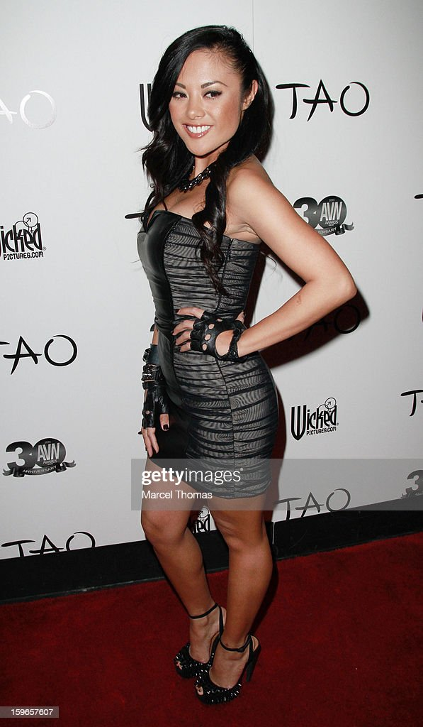 Adult film actress Kaylani Lei attends the official AVN Awards pre-party at the Tao Nightclub at The Venetian on January 17, 2013 in Las Vegas, Nevada.