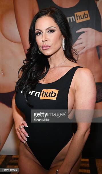 Adult film actress Kendra Lust appears at the Pornhub booth at the 2017 AVN Adult Entertainment Expo at the Hard Rock Hotel Casino on January 18 2017...
