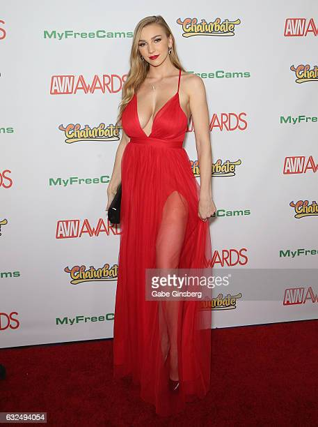 Adult film actress Kendra Sunderland attends the 2017 Adult Video News Awards at the Hard Rock Hotel Casino on January 21 2017 in Las Vegas Nevada