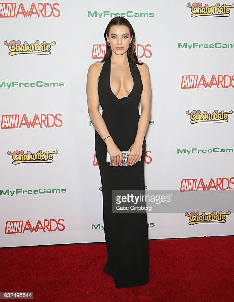 Adult film actress Lana Rhoades attends the 2017 Adult Video News Awards at the Hard Rock Hotel Casino on January 21 2017 in Las Vegas Nevada