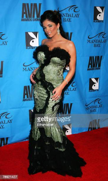 Adult film actress Lanny Barby arrives at the 25th annual Adult Video News Awards Show at the Mandalay Bay Events Center January 12 2008 in Las Vegas...