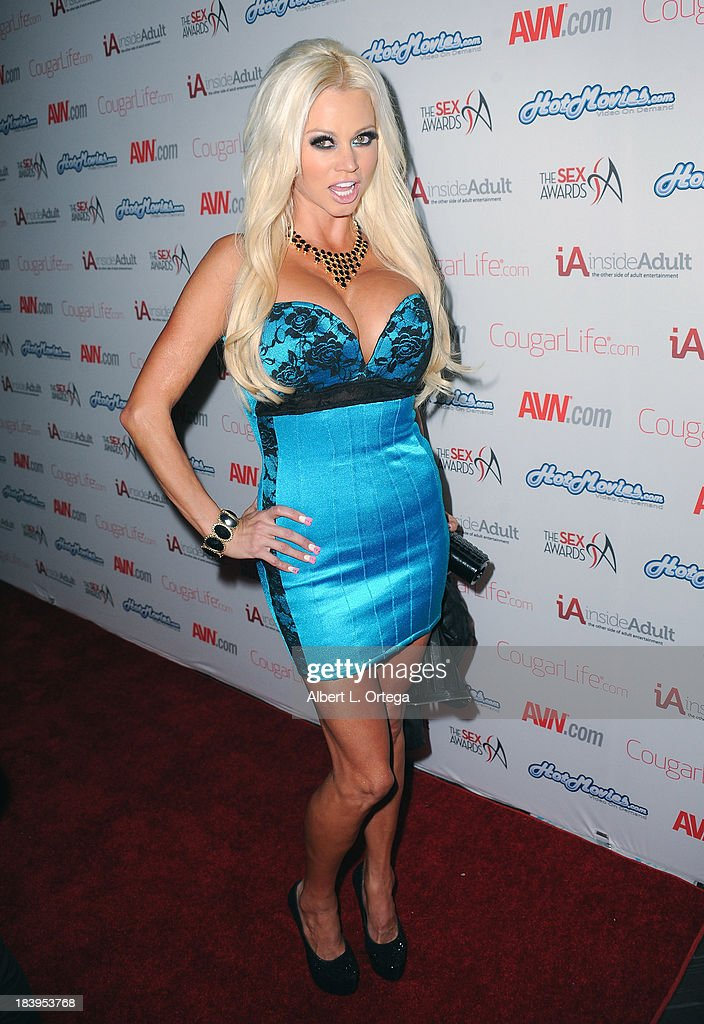 Adult film actress Nikita Von James arrives for The 1st Annual Sex Awards 2013 held at Avalon on October 9, 2013 in Hollywood, California.