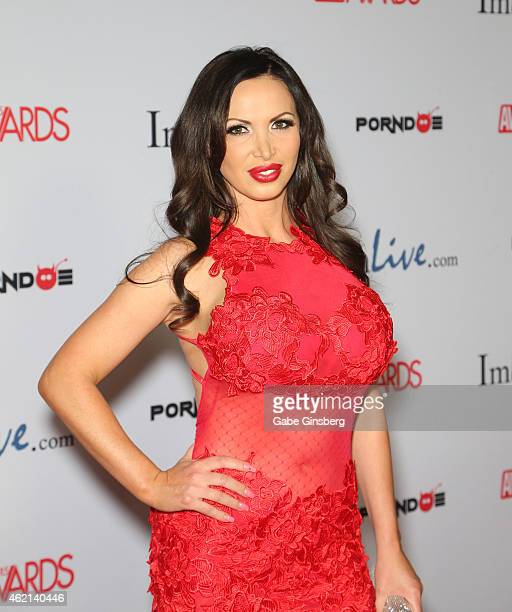 Adult film actress Nikki Benz arrives at the 2015 Adult Video News Awards at the Hard Rock Hotel Casino on January 24 2015 in Las Vegas Nevada