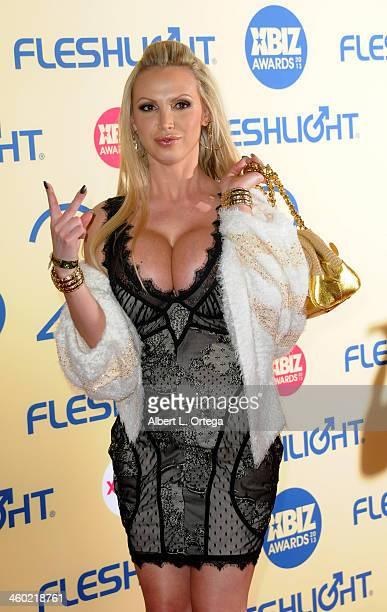 Adult film actress Nikki Benz arrives for the 2013 XBIZ Awards held at the Hyatt Regency Century Plaza on January 11 2013 in Century City California