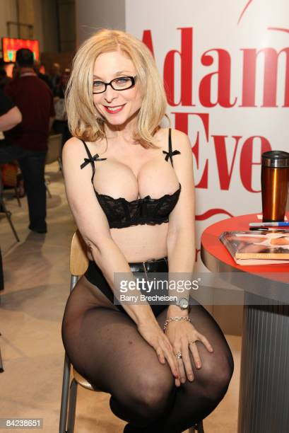 Adult film actress Nina Hartley attends the 2009 AVN Adult Entertainment Expo at the Sands Expo Convention Center on January 9 2009 in Las Vegas...