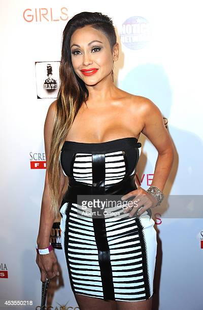 Adult film actress Priya Rai arrives for the Premiere Of 'Live Nude Girls' held at Avalon on August 12 2014 in Hollywood California