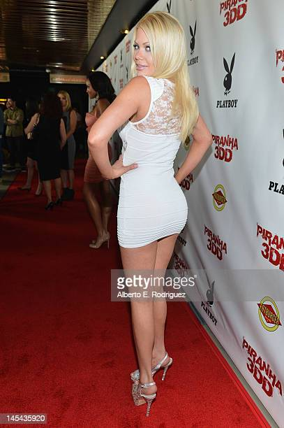 Adult film actress Riley Steele arrives to the premiere of Dimension Films' 'Piranha 3DD' at Mann Chinese 6 on May 29 2012 in Los Angeles California