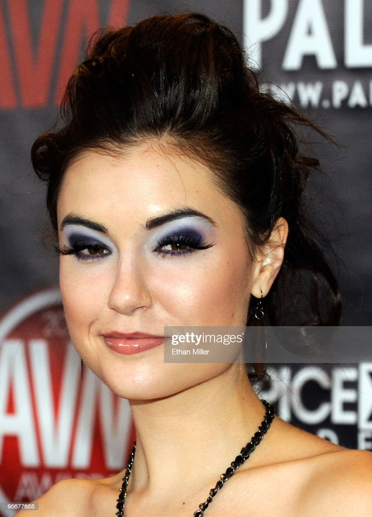 Adult film actress <a gi-track='captionPersonalityLinkClicked' href=/galleries/search?phrase=Sasha+Grey&family=editorial&specificpeople=4453354 ng-click='$event.stopPropagation()'>Sasha Grey</a> arrives at the 27th annual Adult Video News Awards Show at the Palms Casino Resort January 9, 2010 in Las Vegas, Nevada.