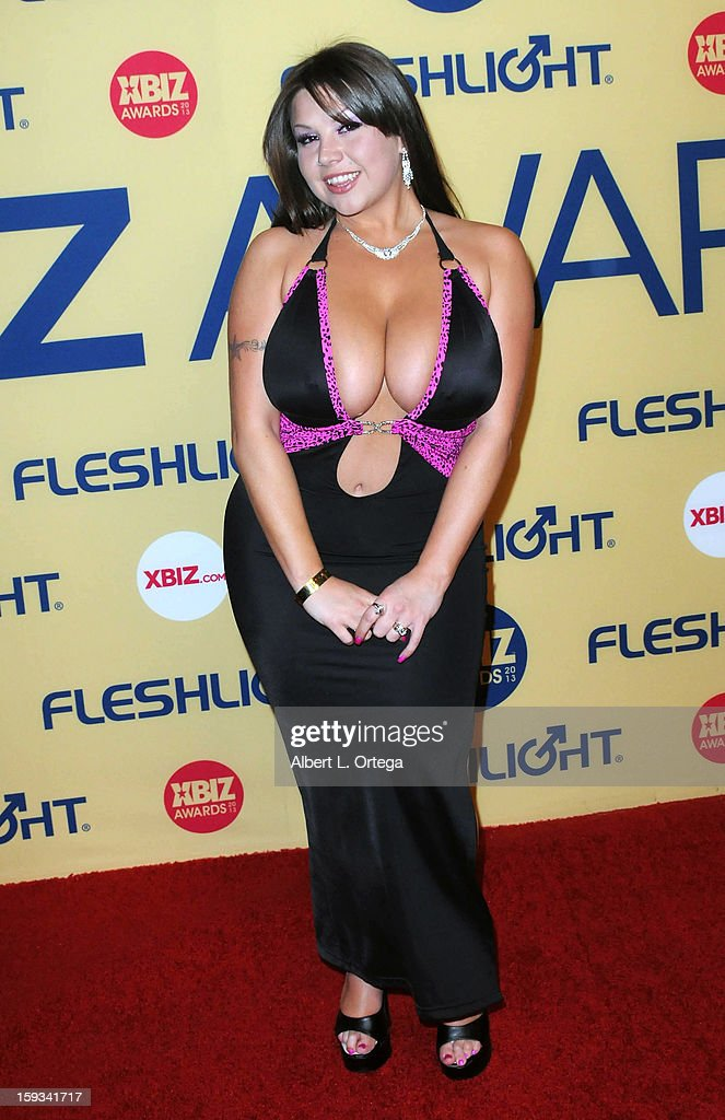 Adult Film actress Sheridan Love arrives for the 2013 XBIZ Awards held at the Hyatt Regency Century Plaza on January 11, 2013 in Century City, California.