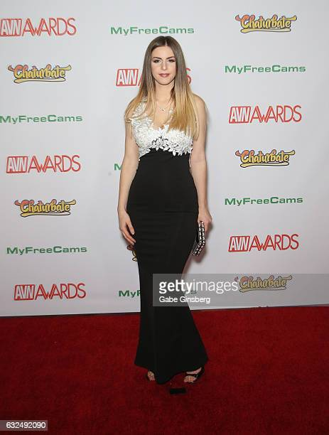 Adult film actress Stella Cox attends the 2017 Adult Video News Awards at the Hard Rock Hotel Casino on January 21 2017 in Las Vegas Nevada