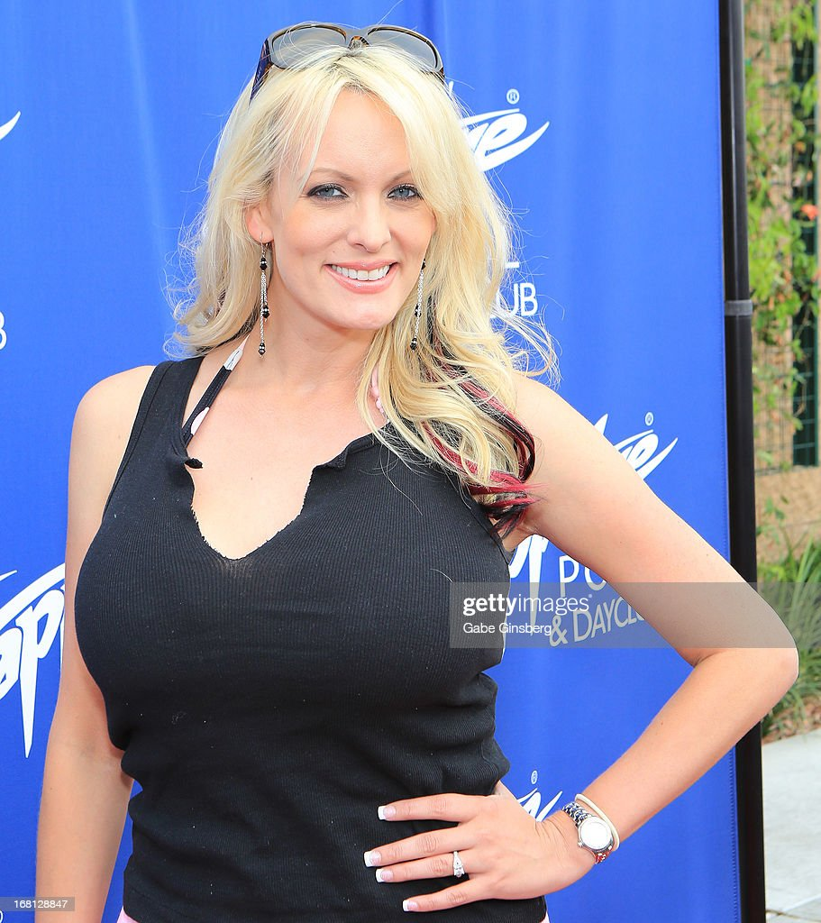 Adult film actress Stormy Daniels arrives at the Sapphire Pool & Day Club grand opening party on May 5, 2013 in Las Vegas, Nevada.