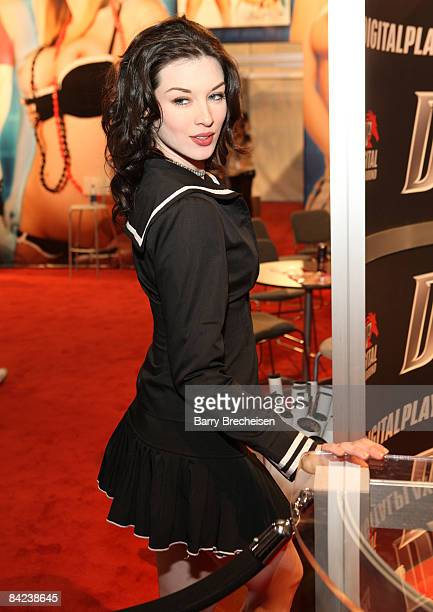 Adult film actress Stoya attends the 2009 AVN Adult Entertainment Expo at the Sands Expo Convention Center on January 9 2009 in Las Vegas Nevada