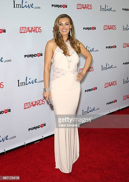 Adult film actress Tanya Tate arrives at the 2015 Adult Video News Awards at the Hard Rock Hotel Casino on January 24 2015 in Las Vegas Nevada