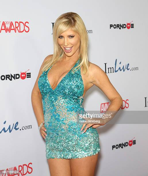 Adult film actress Tasha Reign arrives at the 2015 Adult Video News Awards at the Hard Rock Hotel Casino on January 24 2015 in Las Vegas Nevada