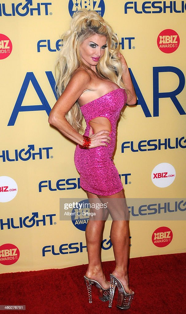 Adult film actress Taylor Wayne arrives for the 2013 XBIZ Awards held at the Hyatt Regency Century Plaza on January 11, 2013 in Century City, California.