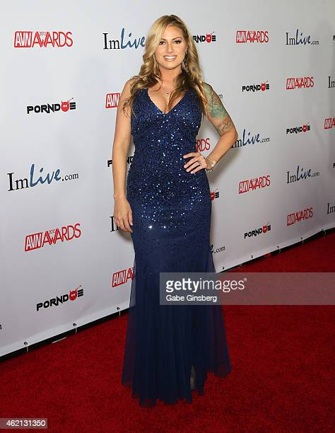 Adult film actress Teagan Presley arrives at the 2015 Adult Video News Awards at the Hard Rock Hotel Casino on January 24 2015 in Las Vegas Nevada