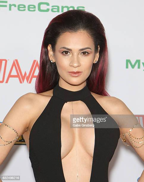 Adult film actress Vanessa Veracruz attends the 2017 Adult Video News Awards at the Hard Rock Hotel Casino on January 21 2017 in Las Vegas Nevada
