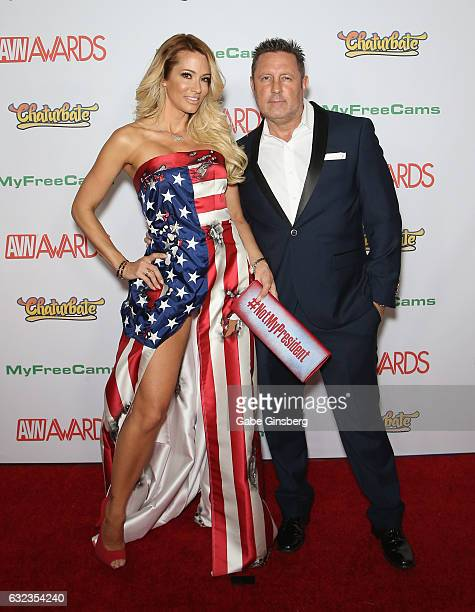 Adult film actress/director jessica drake and her husband adult film actor/director Brad Armstrong attend the 2017 Adult Video News Awards at the...