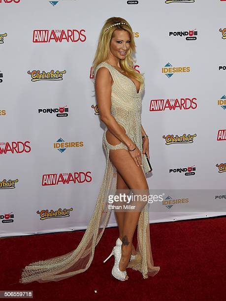 Adult film actress/director jessica drake attends the 2016 Adult Video News Awards at the Hard Rock Hotel Casino on January 23 2016 in Las Vegas...