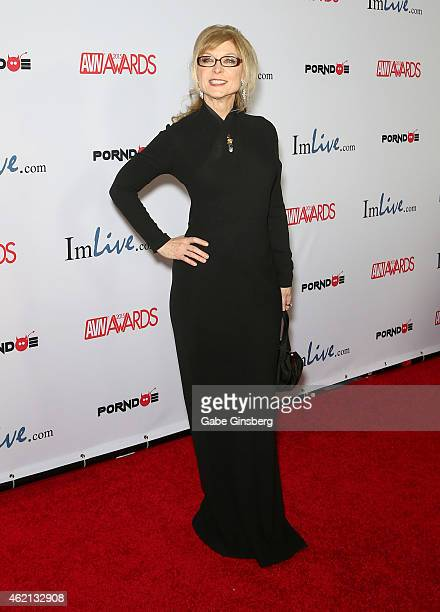 Adult film actress/director Nina Hartley arrives at the 2015 Adult Video News Awards at the Hard Rock Hotel Casino on January 24 2015 in Las Vegas...