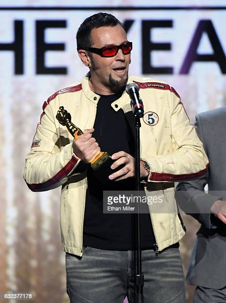 Adult film producer/director Axel Braun accepts the award for Movie of the Year for 'Suicide Squad XXX An Axel Braun Parody' during the 2017 Adult...