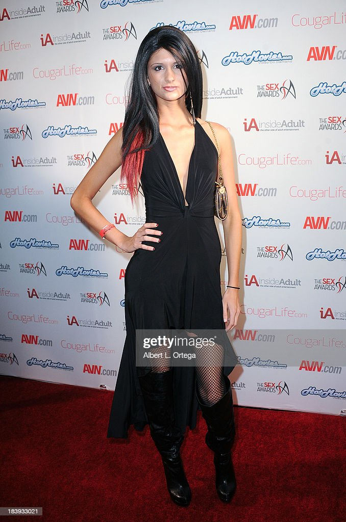 Adult film sctress Presley Dawson arrives for The 1st Annual Sex Awards 2013 held at Avalon on October 9, 2013 in Hollywood, California.