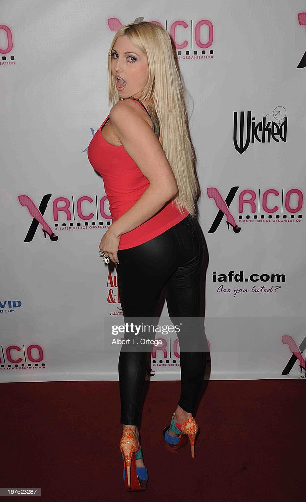 Adult film star Britney Stevens arrives for the 29th Annual XRCO Awards held at SupperClub Los Angeles on April 25, 2013 in Hollywood, California.