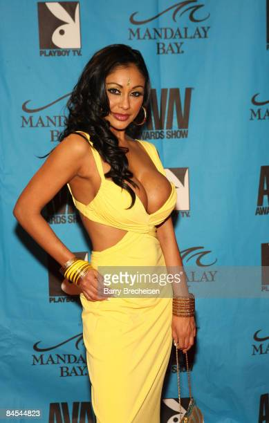 Adult Film Star Priya Rai arrives on the red carpet at the 2009 AVN Awards Show at the Sands Expo Convention Center on January 10 2009 in Las Vegas...