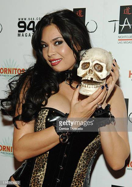 Adult film star Tera Patrick arrives at the annual TAOlloween held at TAO Asian Bistro in The Venetian Hotel and Casino Resort on October 31 2007 in...