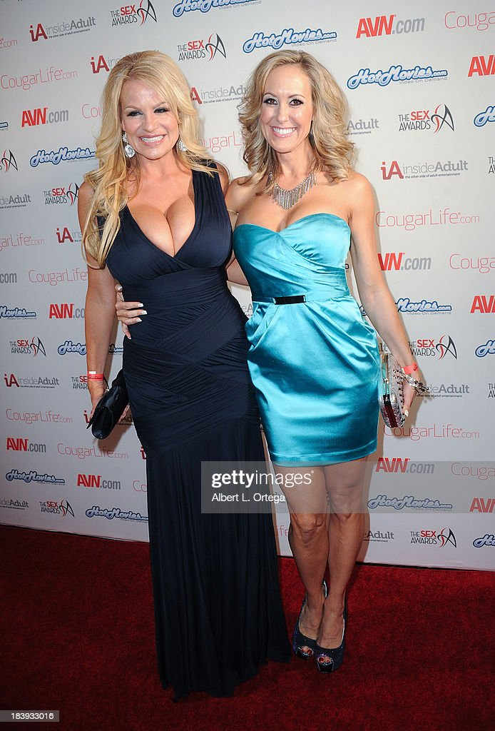 Adult film stars Kelly Madison and Brandi Love arrive for The Sex Awards 2013 held at Avalon on October 9, 2013 in Hollywood, California.