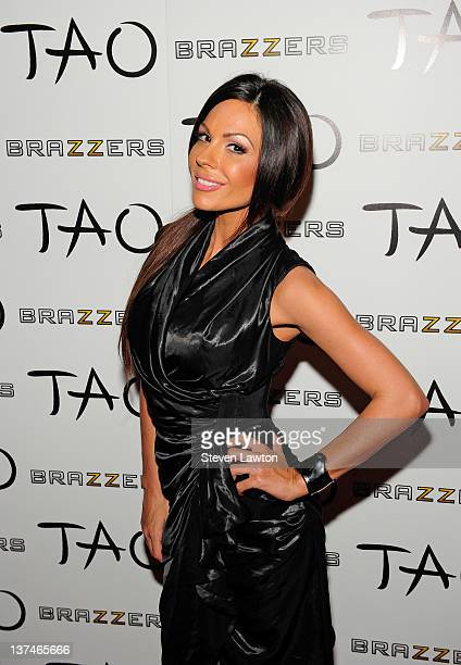 Adult flim star Kristen Price arrives for Brazzers party at the Tao Nightclub at the Venetian Resort Hotel Casino on January 20 2012 in Las Vegas...