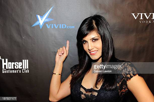 Adult flim star Sunny Leone arrives to host an evening at Crazyhorse III at Playground on January 18 2012 in Las Vegas Nevada