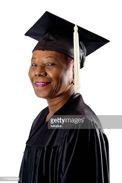 Adult Graduate Looking Sideways