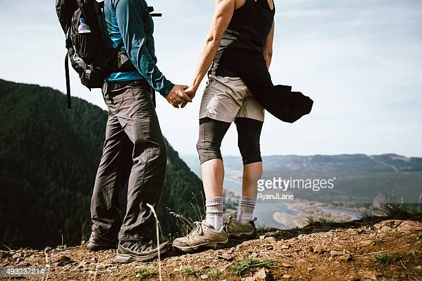 Adult Hikers on Mountain Top