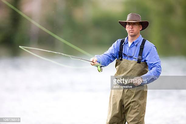 Adult Male Fly Fisher Casting