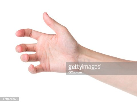 Adult hand to phone