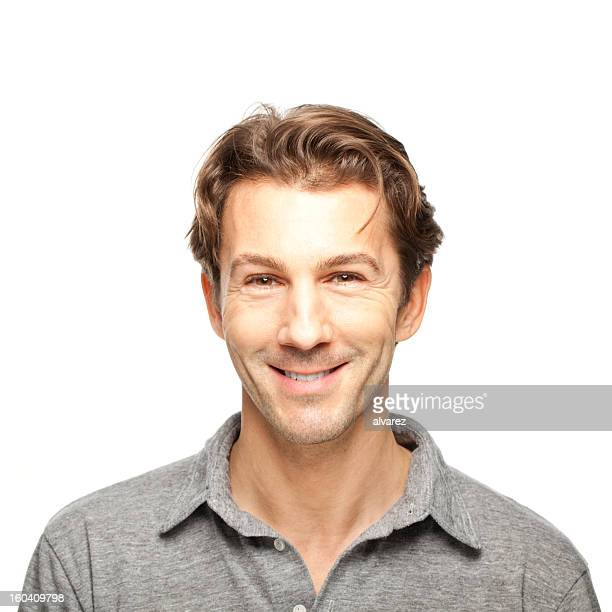 Adult man smiling
