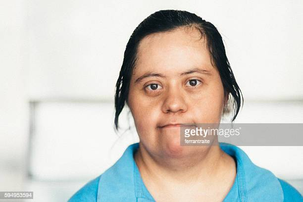Adult Mexican woman with down syndrome