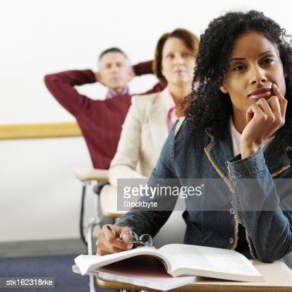 Adult Students Paying Attention In Class Stock Photo ...