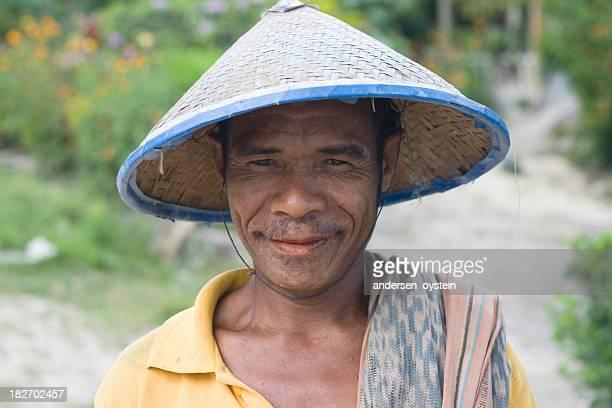 Adult timorese farmer from Timor Leste.